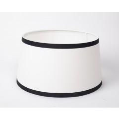 Lampenschirm, Weiß-Schwarz, Form rund Ø 45 cm