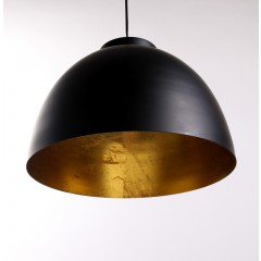 Moderne Pendelleuchte, Farbe schwarz-gold in zwei Größen  Durchmesser 30 und 45 cm