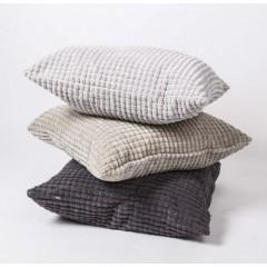 Sofakissen, Dekokissen grau, Kissen in drei Farben, Größe 68 x 68 cm