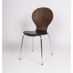 Stapelstuhl, Stuhl aus Schichtholz, Farbe Braun