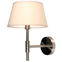 Wandlampe Nickel-satiniert mit eine Lampenschirm Farbe Cream, Wandlampe mit Lampenschirm