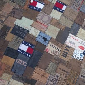 Teppich Patchwork braun, Größe 140 x 200 cm