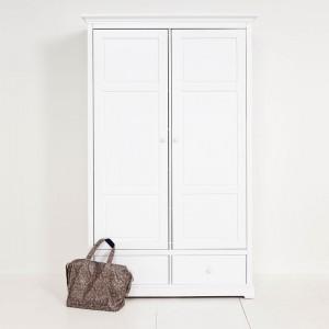 Weißer zweitüriger Kleiderschrank im Landhausstil, Kinderschrank, Höhe 195 cm