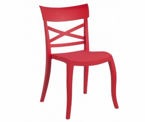 Gartenstuhl rot stapelbar, Stuhl Outdoor rot Kunststoff