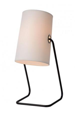 Tischlampe modern Design, Tischleuchte Weiß, Höhe 48 cm