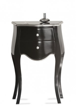 Kommode aus Mahagoniholz in schwarz, silber im Barock Style