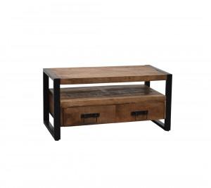 TV Schrank Industriedesign, Lowboard Metall Holz, Breite 102 Cm