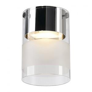 Deckenleuchte/ Strahler Stahl, Glas