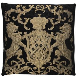 Dekokissen, Kissen, Farbe gold-schwarz, Größe 55 x 55 cm