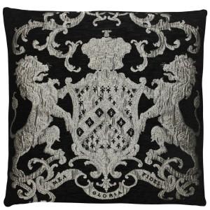 Dekokissen, Kissen, Farbe silber-schwarz, Größe 55 x 55 cm