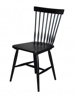 Stuhl aus Massivholz, Farbe Schwarz