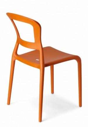 Design Stuhl Kunststoff orange modern Outdoor geeignet