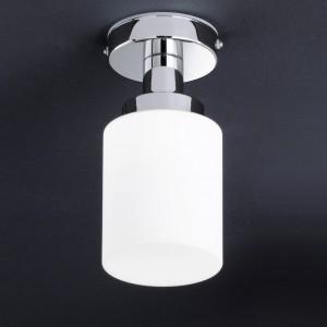 Design Deckenleuchte, Badezimmer, aus Metall, Glas in weiß, chrom, Höhe 21 cm