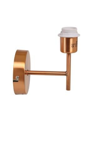 Wandleuchte Farbe Kupfer Höhe 19 cm, Wandlampe für Lampenschirme