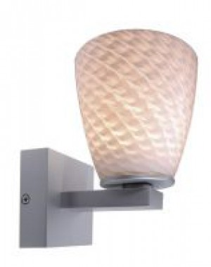 LED Wandleuchte aus Aluminium Druckguß, Glas, weiß, grau