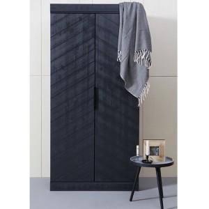 Schrank schwarz, Kinderschrank schwarz, Kleiderschrank schwarz,   Breite 94 cm