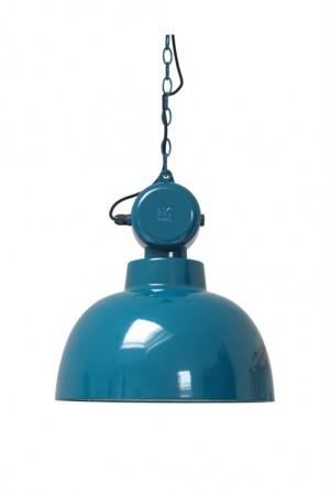 Hängeleuchte Fabrikart L, Pendelleuchte Industriedesign, Farbe blau, Ø 40 cm