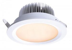 LED Deckeneinbaueuchte aus Aluminium, Glas, weiß, Ø 100cm