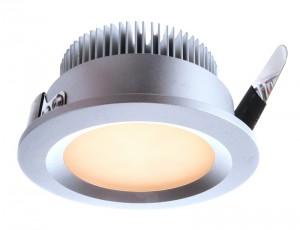LED Deckeneinbaueuchte aus Aluminium, Glas, weiß, silber, Ø 86cm