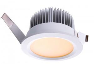 LED Deckeneinbaueuchte aus Aluminium, Glas, weiß, Ø 114cm