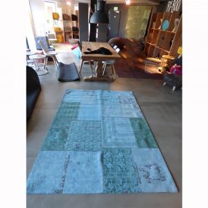 Teppich Patchwork Türkis, Größe 200 x 300 cm