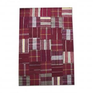 Flickenteppich Teppich,  Farbe Rot, Größe 160 x 230 cm