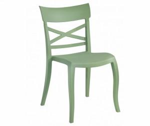 Gartenstuhl grün stapelbar, Stuhl Outdoor grün Kunststoff
