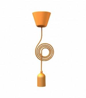 Kabel für eine Pendelleuchte, Farbe orange, Ø 12 cm