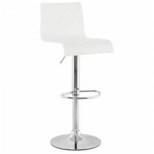 Design Barhocker, Barstuhl weiß-chrom