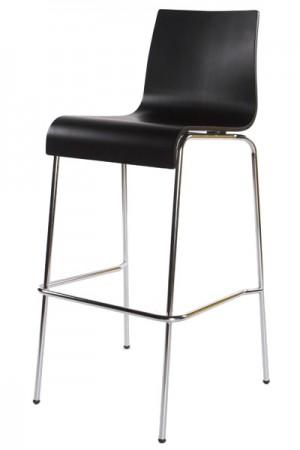 Design Barstuhl in schwarz