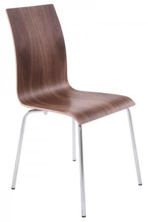 Design Stuhl in walnuss