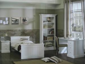 Komplett Jugend-  Kinderzimmer Hampton im Landhausstil im weiß
