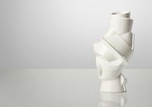 Designer Vase weiß