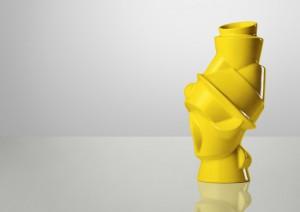 Designer Vase gelb