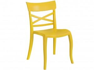 Gartenstuhl gelb stapelbar, Stuhl Outdoor gelb Kunststoff