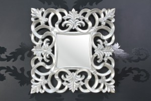 Wandspiegel modern/ Barock, silber