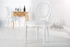 Barock Stuhl weiß, Stuhl Barock weiß