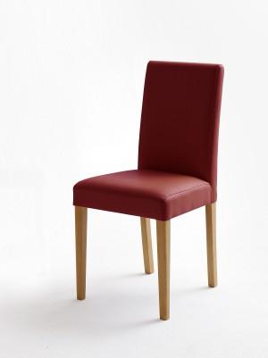 Stuhl rot gepolstert, Stuhl mit PU Stoff bezogen