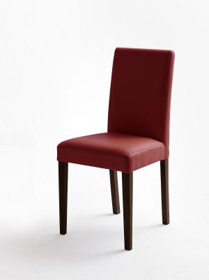 Stuhl rot gepolstert, Stuhl PU Stoff Lederoptik
