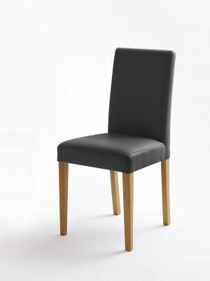 Stuhl grau gepolstert, Stuhl mit PU Stoff Lederoptik