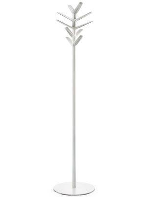 Garderobenständer, Standgarderobe aus Polypropylen und Stahl, Höhe 173 cm