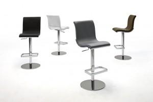 Barstuhl, Barhocker gepolstert, in vier Farbe,  Sitzhöhe 55-80 cm