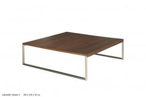Couchtisch, Tisch Walnuss furniert, Maße 100x100 cm
