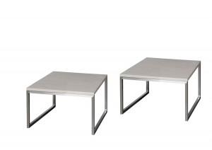Beistelltisch grau, Couchtisch grau, Maße 60x60 cm