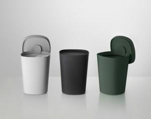Designer Mülleimer in schwarz