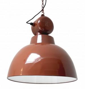 Pendelleuchte Fabrikart, Industriedesign Lampe, Farbe braun, Ø 50 cm