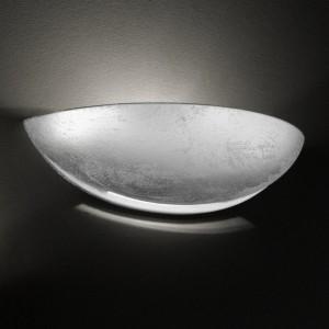Wandleuchte aus Keramik, Farbe silber, Breite 31 cm