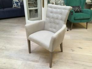Gepolsterter Stuhl mit Armlehne, Stuhl gepolstert Farbe leinen