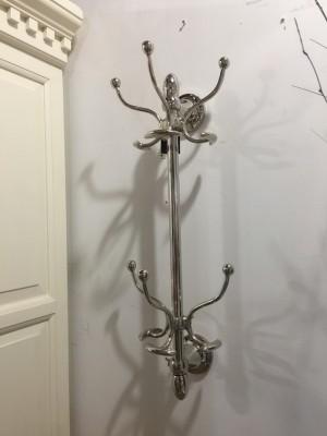 Garderobe verchromt Metall, Wandgarderobe silber