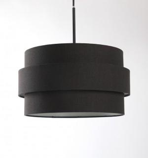 Pendelleuchte, Lampenschirm schwarz, Ø 36 cm